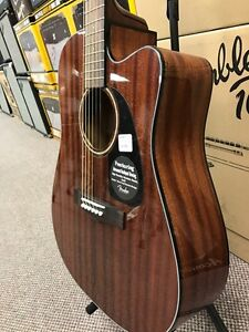 fender CD60CE All Mahogany Acoustic Guitar (new) with case Peterborough Peterborough Area image 2