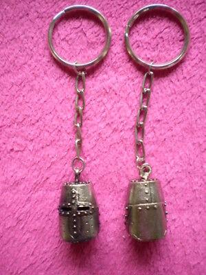 Schlüsselanhänger MOTIV -  RITTERHELM aus Metall / Spritzguss ca. 11,5 cm / Neu