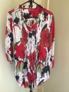 4 x Tops - Size 12 -Red, Green, Gold, Blue, Black  The LOT $20.oo