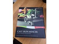 Unused Cast iron Mincer £10- boxed and in excellent condition