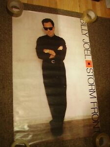 BILLY JOEL STORMFRONT LARGE PROMO POSTER