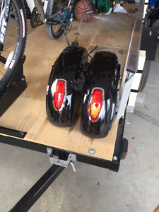 Honda Hard Shell Saddle Bags with lights and brackets