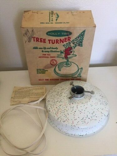 Vintage Holly Time Tree Turner Christmas Tree Stand  + Box + Instructions B-20