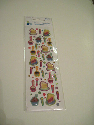 Scrapbooking Stickers My Momenta Birthday Candles Cake Slices Cupcakes Repeats