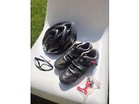 Biking - Helmet, Shoes and Glasses