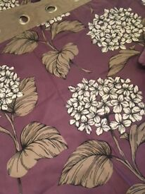 Next Floral curtains, fully lined with eyelets each curtain 218cm x 230cm drop