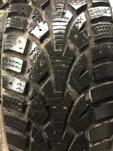 """4 - 2007 Hyundai Accent 14"""" Steel Rims with Good Hercules Winter Tires - 185/65 R14"""