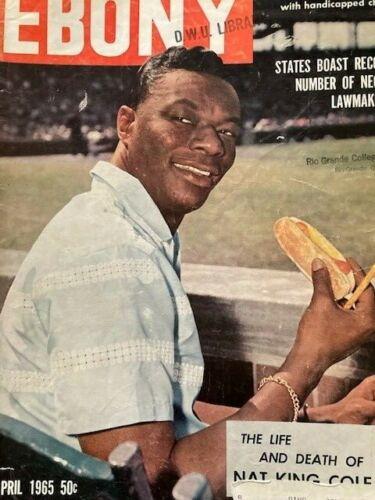 Vintage Ebony Magazine Apr 1965 Nat King Cole - Death Issue