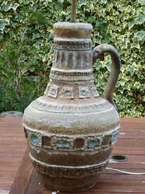 HUGE Ceramic Lamp 1960s possibly German or Italian