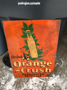 Vintage Orange Crush Signs