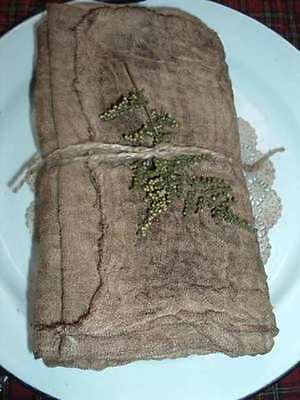 TEA WALNUT INK STAINED GRUNGY CHEESE CLOTH CRAFTS
