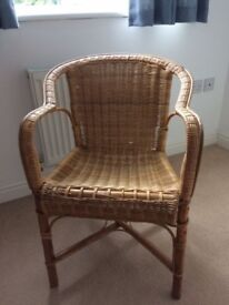 Wicker chair, for indoor use.