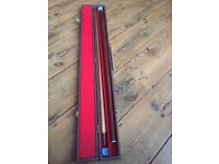 Pool Cue with box and chalk. Brentford