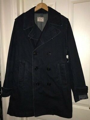 Polo RALPH LAUREN Women's Blue Denim Pea Coat Taylor Indigo size L