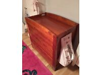 Solid Wood baby changing Unit with 3 large draws for childrens/baby clothes for sale