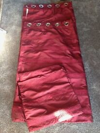 John Lewis Burgundy Curtains (2 pairs available)
