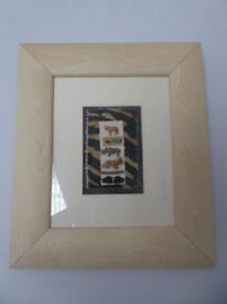 2 FRAMED PICTURES DEPICTING AFRICAN ANIMALS - NEW, READY TO HANG