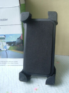 Bike handlebar mounted holder for smart phone or GPS