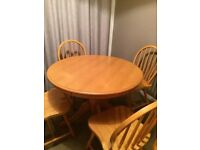 Dining table and chairs - local delivery