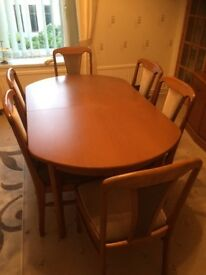 Abor Range Extendable Dining Table and 6 Chairs
