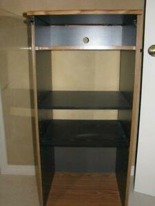 Audio/Video equipment stand with glass door