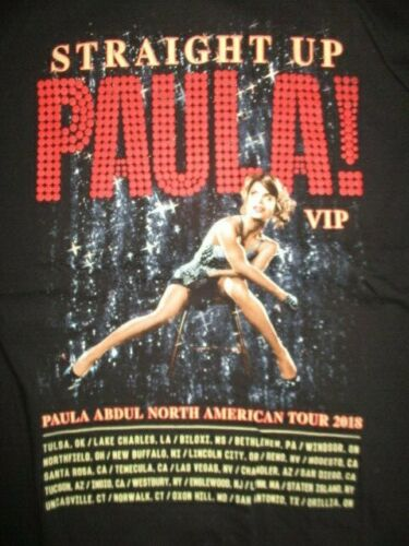 "2018 PAULA ABDUL ""Straight Up PAULA VIP"" North American Concert Tour (LG) Shirt"