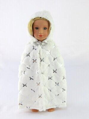 Doll Clothes White Faux Fur Cape Coat For 14.5