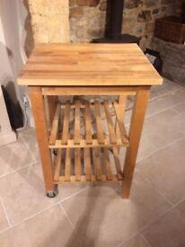 Wooden console unit