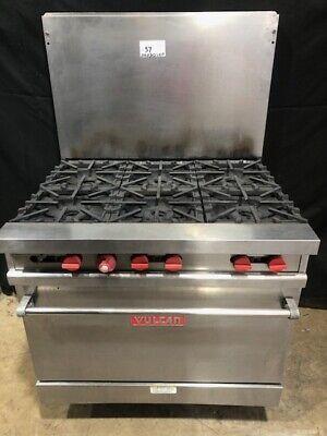 Vulcan 6 Burner Range Natural Gas Commercial Restaurant Oven