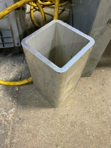 "Aluminum Square Tube   6"" x 6"" x 1/2"" wall    12"" long"
