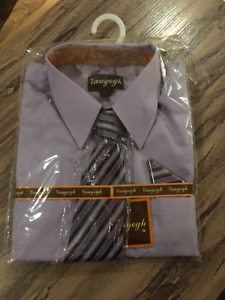 Boys Size 10 Dress Shirt with Tie - Brand New