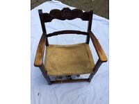 Antique child's chair, 150 years old