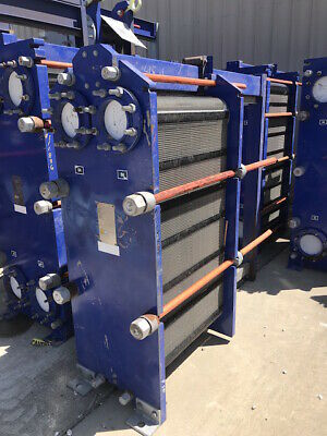 415 Sq Ft Stainless Steel Alfa Laval Plate Heat Exchanger Model M15-mfg