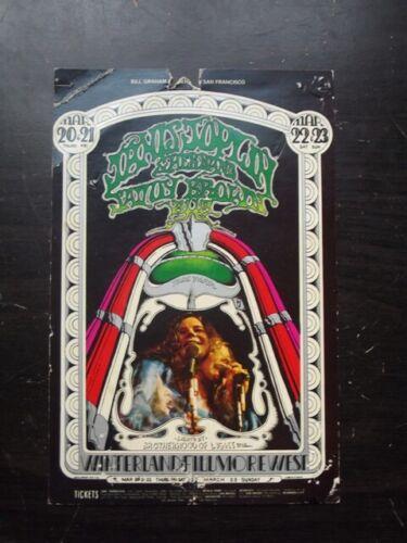 JANIS JOPLIN & SAVOY BROWN, WINTERLAD FILLMORE WEST Vintage 1969 HANDBILL