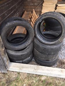Sets de pneu avec usure avancée