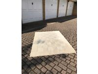Laura Ashley wool beige carpet with square design in good condition