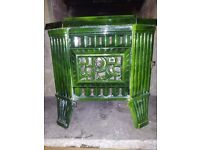 Antique FRENCH ART DECO Rosiere 307 enamel cast iron WOOD BURNING STOVE