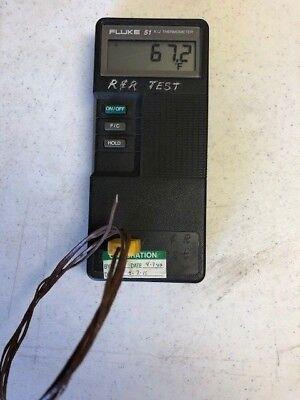Fluke 51 Handheld Digital Thermometer Type K J Thermocouple