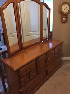 Oak Dresser and night stand