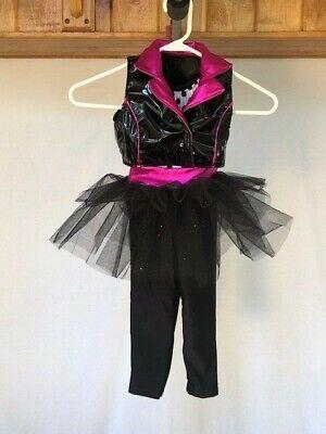 Black & Pink W/ Polka Dots Youth Jazz/Tap/Musical - Pink Jazz Dance Kostüme
