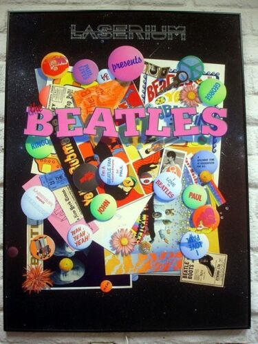 """ORIGINAL PAINTING: """"Laserium Presents: The BEATLES"""" Acrylic and Airbrush"""