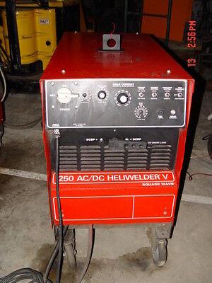 Airco 250 Amp Heli-welder Square Wave Tig Welder Heliwelder V Torch Pedal