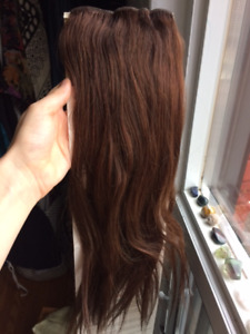 """16"""" clip-on Remy Cuticle human hair extensions"""