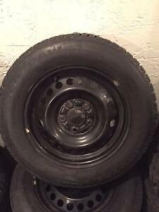195 65R 15 195 55R 16 FIRESTONE TOYO DUNLOP UNIROYAL SNOW TIRE SALE VW HYUNDAI HONDA FORD MINI RIMS AND MANY MORE