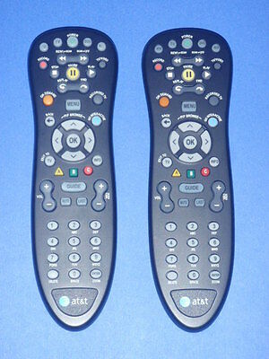 Lot Of  2  At T U Verse Standard Remote Control Black S10 S4