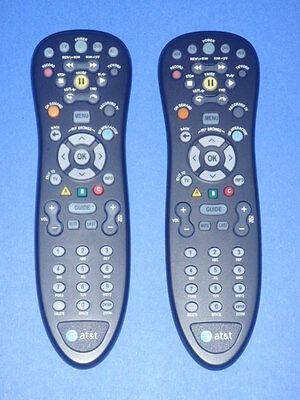 Lot of (4) AT&T U-verse Standard Remote Control BLACK S10-S4