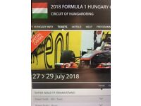 F1 Hungary GP Budapest Tickets
