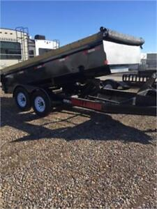 2017-dump trailer-made by double A -2 7000lbs axles- 14 footer