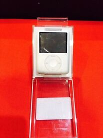 IPOD NANO 3RD GEN 4GB SILVER WITH 12 MONTH WARRANTY THAT COVERS IPOD, CABLE, PLUG + HEADPHONES