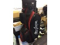 MacGregor Golf Bag (black / red) with club dividers - great condition